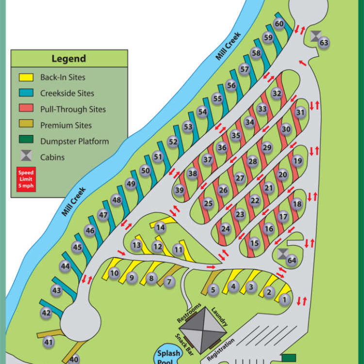 Pine Mountain RV Park Site Map